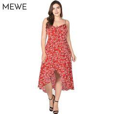Floral Maxi Plus Size Ruffle Boho Beach Sundress Bohemian Summer Dresses e52d07e85738