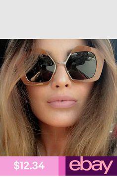 560b8b86e24b Oversized Sunglasses Women 2018 Semi Rimless UV400 Vintage Half Frame  Polygon
