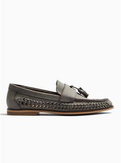 Grey Weave Morgan Tassel Loafers Mens Woven Loafers, Tassel Loafers, My Bags, Casual Shoes, Shopping Bag, Weave, Tassels, Asos, Trending Outfits