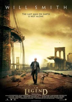 I Am Legend (UK) 27x40 Movie Poster (2007)