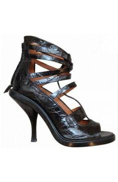#Givenchy Sandales Spartiates Talon Cuir croco noir 38 #kollas