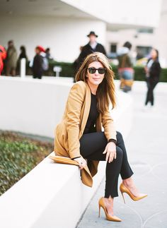 """""""The perfect nude heel is an essential for every woman. It goes with any outfit, and when wearing something short to show off your legs, nothing makes them look longer, leaner, and sexier."""" // Nina Garcia - Creative Director, Marie Claire and Project Runway Judge"""