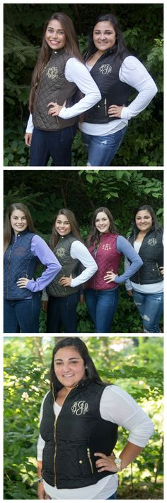 Monogram quilted vests by The Initialed Life. Fall is upon us! Get your monogrammed vest here. Click the picture for more information or pin to save for later!