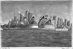 Stephen Wiltshire is an artist who draws detailed cityscapes, skylines and street scenes. Buy the original drawing of Sydney Opera House City Drawing, House Drawing, Stephen Wiltshire, Autistic Artist, Engraving Art, Skyline Art, London Art, Art Music, Ideas