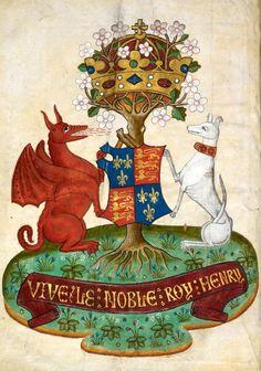 Arms of Henry VII, Le miroir des dames, 15th c.