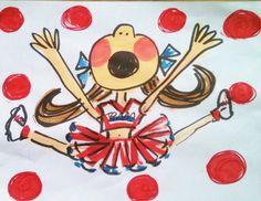 Rah Rah Cheerleader Pillowcase Dress Hand Painted Size 2 to 8 Any Colors. $35.00, via Etsy.