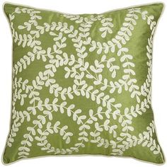 embroidered vines pillow green pier 1