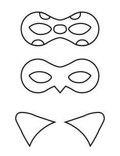 Ladybug and Cat Noir masks - free printable