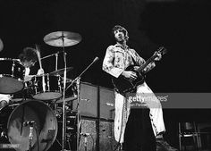 Keith Moon and Pete Townshend of The Who performing on stage at Falkoner Centret on September 2th 1970 in Copenhagen Denmark