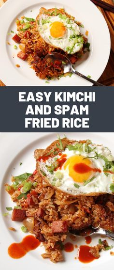 Best Eaten Alone Without Pants On: Kimchi and Spam Fried Rice - Daily Good Pin Kimchee Fried Rice, Spam Fried Rice, Spam Recipes, Rice Recipes, Cooking Recipes, Dinner Date Recipes, Kimchi Rice, Jai Faim, Eating Alone