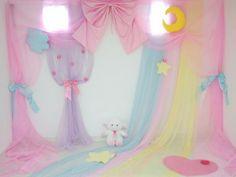 Fairy Kei room with a sheep Rainbow pastel aesthetic Pastel Room, Pastel Colors, Pastel Style, Pastel House, Pastels, My Room, Girl Room, Dream Bedroom, Girls Bedroom