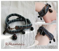 $14.68 Chainy jeans bracelet with beads by Rokamaci on Etsy