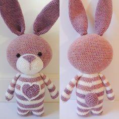 Haakpatroon Bea het konijn  Amigurumi patroon door PoppaPoppen