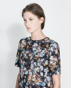 ZARA - WOMAN - PIPED PRINTED TOP