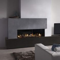 DRU Metro Eco Wave Balanced Flue Gas Fire is modern, stunning fire with realistic log-effect or contemporary stone fuel bed. Living Room Decor Fireplace, Fireplace Seating, Fireplace Bookshelves, Home Fireplace, Fireplace Remodel, Modern Fireplace, Living Room Tv, Fireplace Surrounds, Home And Living