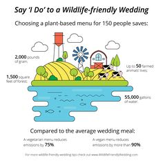 Choosing a plant-based menu for 150 people saves: square feet of forest; gallons of water; pounds of grain; Up to 50 farmed animals' lives. Vegetarian Menu, Vegan Menu, Vegetarian Options, Slider Bar, Gallon Of Water, Wedding Costs, Wipe Out, Wine And Liquor, Leftovers Recipes