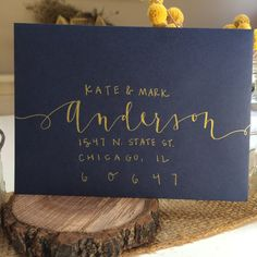 Hand-lettered envelopes by TheSimpleCityShop on Etsy