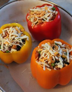 Jo and Sue: Quinoa Stuffed Peppers.  Use non-dairy for plant based.  Looks so yummy!!