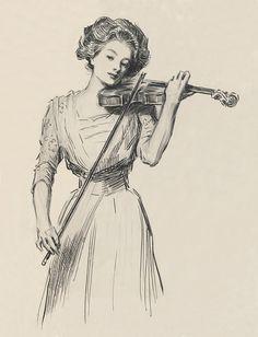 Female Violinist Sketch