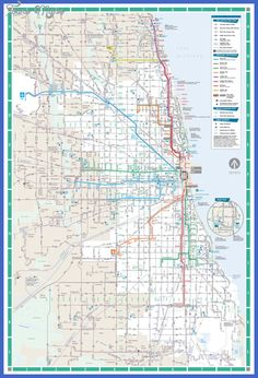 Cool Chicago Subway Map