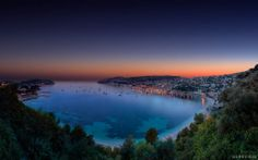 """""""Villefranche sur Mer Twilight Sunset"""" -- #wallpaper by """"Crevisio"""" from http://interfacelift.com -- Evening twilight sunset HDR panorama over Villefranche sur Mer, Côte d'Azur, French Riviera.  The photograph shows the beautiful bay just in front of Villefranche sur Mer as well as the Cap Ferrat, the location with the world's highest property prices after the Principality of Monaco and the Cap d'Antibes.   The full image size is 24,090 x 15,050 pixels at 300 dpi. A free downloadable high re…"""