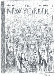Peter de Seve - The New Yorker  cover concept sketch.