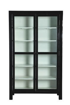 'Mall' Black Cabinet by House Doctor House Doctor, Spa Rooms, House Rooms, Book Cabinet, Mall, Black Cabinets, Vintage Interiors, Laundry In Bathroom, Interior Design Inspiration