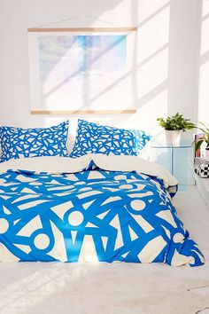 Shop Gabriela Fuente For Deny Mark Duvet Cover at Urban Outfitters today. We carry all the latest styles, colors and brands for you to choose from right here. Men's Bedding, Bedding Sets, Dorm Room Art, College Bedding, Tile Decals, Decorative Tile, New Room, Bed Covers, Fonts