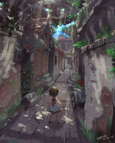 Alley in the Memory by extvia