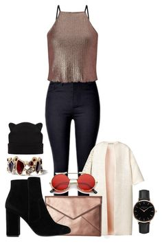 """""""Untitled #1457"""" by social-outcast-16 on Polyvore featuring Esme Vie, Miss Selfridge, Rebecca Minkoff, MANGO, Chloe + Isabel and Topshop"""