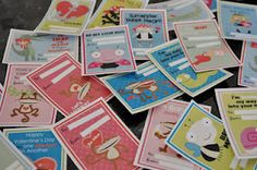 FREE Valentine Card Printables + Candy wrappers :) So Adorable!