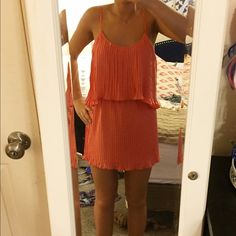 NWT Lovers + Friends dress Brand new coral dress with keyhole open back Lovers + Friends Dresses Mini