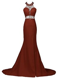 Dresstells® Long Mermaid Prom Dress Beadings Halter E...…