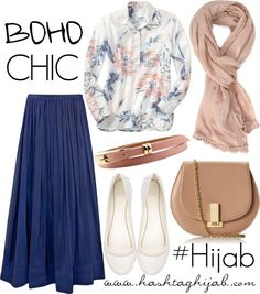 navy blue hijab, and match the shoes with the purse!