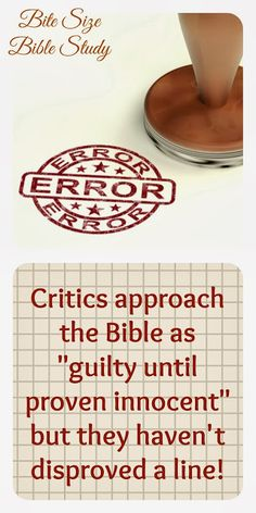 GUILTY UNTIL PROVEN INNOCENT--a 5 minute Bible study about the reliability of God's Word.~ Click image and when it enlarges click again to be taken to study.