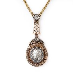 Rose cut diamond necklace, early to mid 19th century