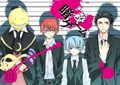 Assassination Classroom Koro Sensei, Karma, Nagisa, Karasuma Sensei