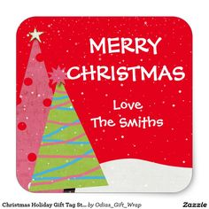 Christmas Holiday Gift Tag Sticker