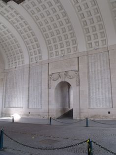 Menin Gate, Ypres: to see so many names of those who lost their lives is a humbling experience, to have the honour of playing here is an experience I cherish and one I will never forget.