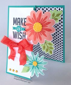 A Ginger Snap! A Stampin' Up! Flower Patch, Flower Fair framelits, photopolymer,  Technique Tutorial!