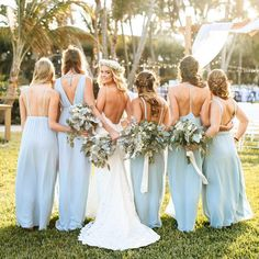 Baby Blue Mix and Match Bridesmaid Dresses Baby Blue Mix and Match Bridesmaid Dresses Blue Bridesmaids, Blue Bridesmaid Dresses, Wedding Bridesmaids, Wedding Dresses, Bridesmaid Boxes, Wedding Attire, Wedding Bouquet, Bridesmaid Gifts, Wedding Ceremony Ideas