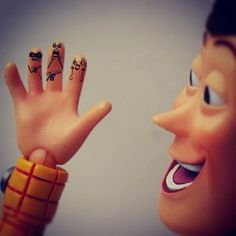 Stick 'em up fingers.