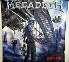 MEGADETH  Dystopia HUGE 4X4 banner poster tapestry cd album | eBay