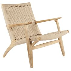 Bungalow Rose The Sungar Armchair is made from solid ash wood with hand made paper cord rattan in a natural or walnut colour oil finish. Plywood Furniture, Design Furniture, Modern Furniture, Outdoor Furniture, Rattan Furniture, Design Lounge, Design Loft, Chair Design, Design Living Room