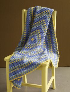 Crochet Patterns Galore - Brilliant Colors Baby Throw