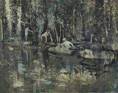 Miriam Vlaming, Summer Camp, Egg tempera on canvas, 180 x 230 cm