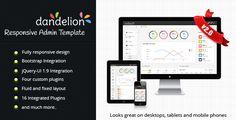 Dandelion Admin - Responsive Admin Template - Admin Templates Site Templates