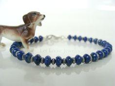 Lapis bracelet genuine natural gemstones by LetLooseJewelry