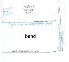 drafting the FQ skirt band