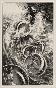 Virgil Finlay - from The Ship of Ishtar (1949)